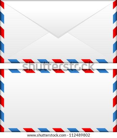 illustration of airmail envelope