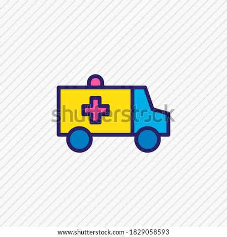 illustration of ambulance icon colored line. Beautiful necessity element also can be used as first aid car icon element. Сток-фото ©