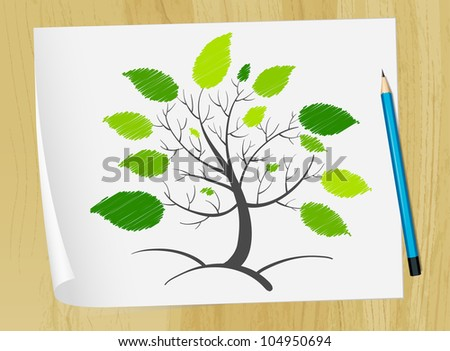 Illustration of an abstract tree concept - EPS VECTOR format also available in my portfolio.
