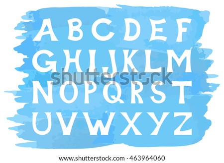 illustration of an alphabet set of capital letters