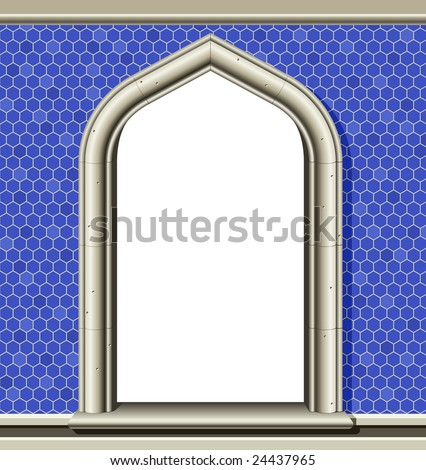 stock-photo-illustration-of-an-ancient-arched-window-in-a-wall-of-blue-tiles-suitable-as-a-frame-or-border-24437965.jpg