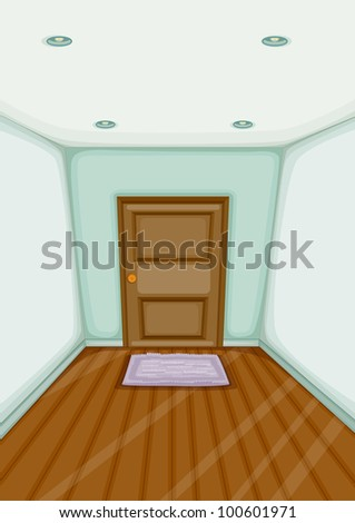 Illustration of an empty entrance - EPS VECTOR format also available in my portfolio.