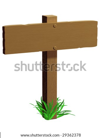 Illustration of an isolated signpost ready for words to be added