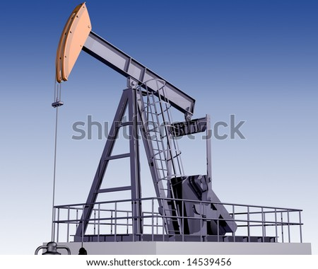 Illustration of an oil rig on a clear day