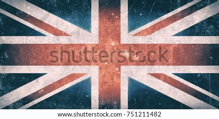 Illustration of an old england vintage flag  #751211482