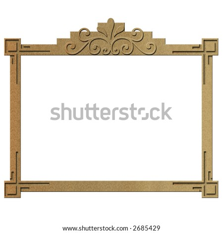 Illustration of an Old Fashioned Rectangular Wooden Frame