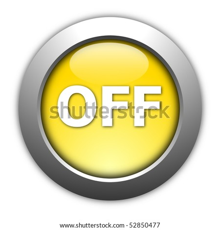 illustration of an on and off button