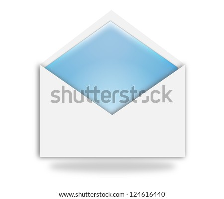 Illustration of an opened envelope