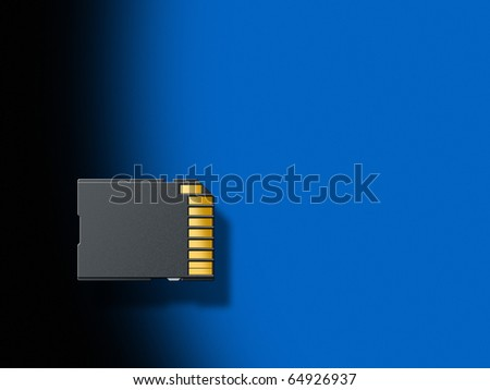 Illustration of an SD Memory Card