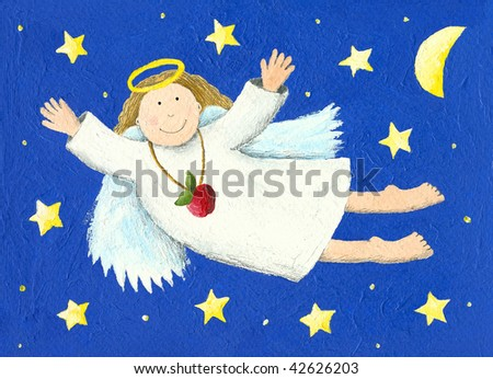 Illustration of Angel in the night