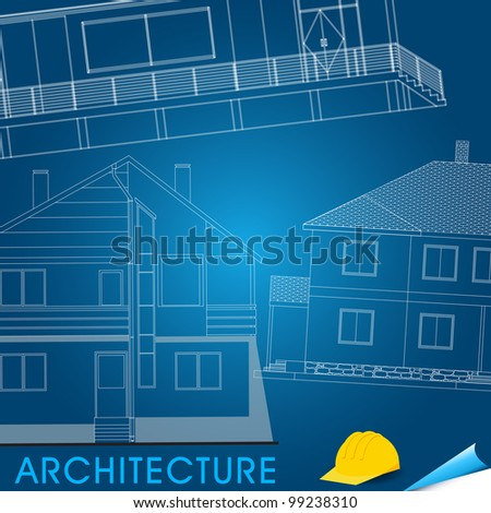 Illustration of architectural plans - stock photo