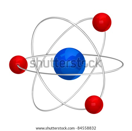 illustration of atom icon isolated on white background