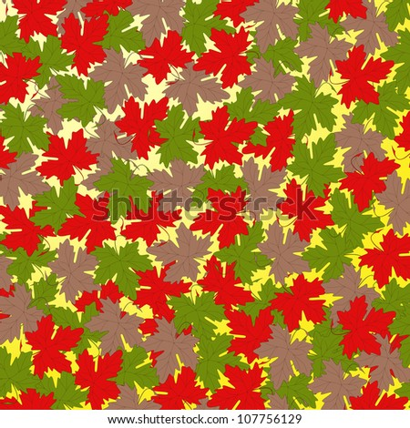 Illustration of autumn leaves background