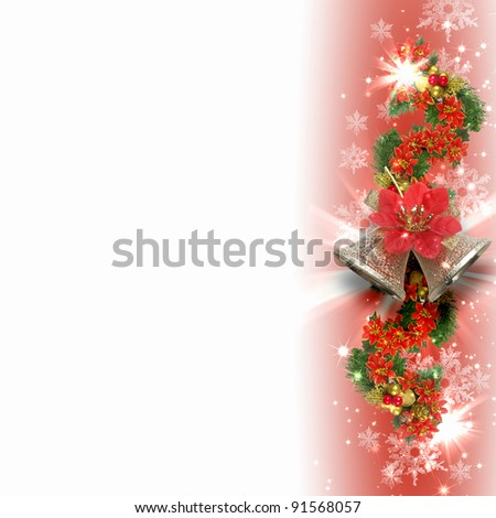 Illustration of background with traditional Christmas decoration ornament #91568057