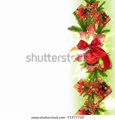 Illustration of background with traditional Christmas decoration ornament #91977758