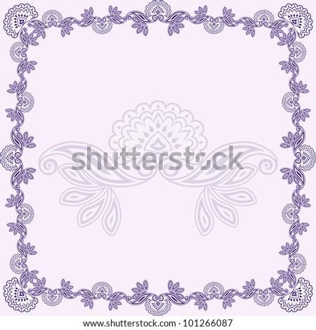 Illustration of beautiful purple asian design