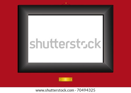 illustration of black frame under the red background