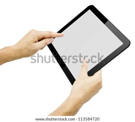 Illustration of black tablet pc
