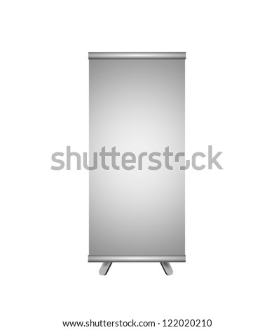 Illustration of blank board on white background. - stock photo