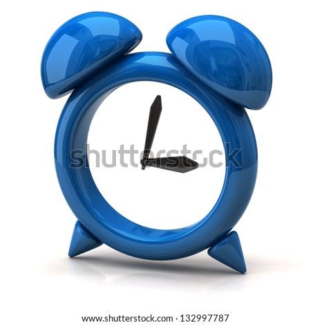 Illustration of blue clock