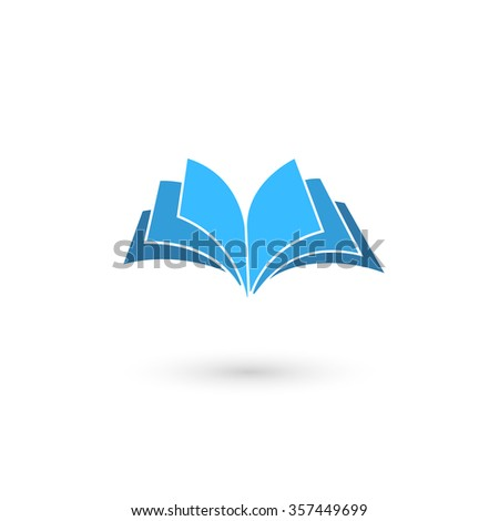 Illustration of book icon on white background.