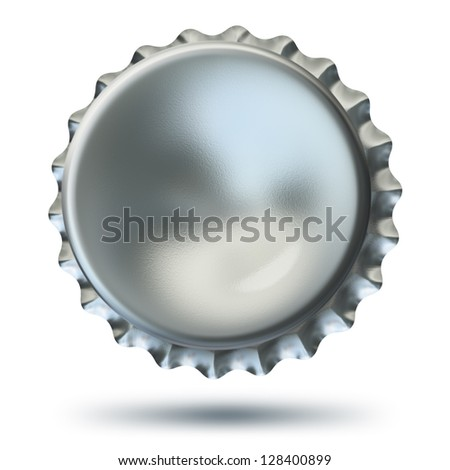 Illustration of bottle cap - isolated on white