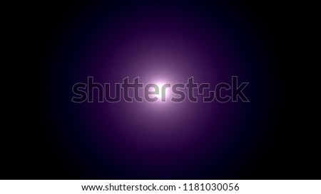 Illustration of bright but soft sun or light with pink glow on dark vignetted purple background #1181030056
