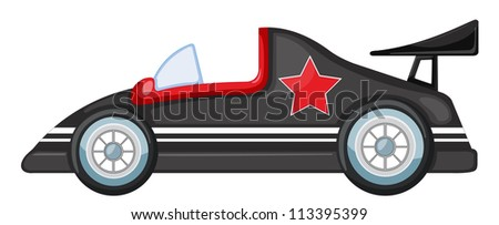 illustration of car on a white background