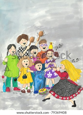 Illustration of Children's Choir