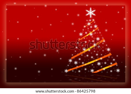 illustration of Christmas postcard with year 2012 in red color