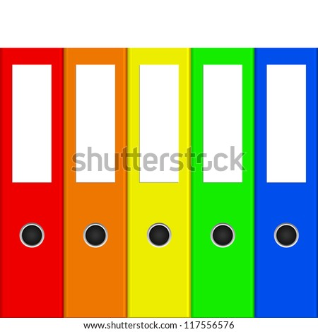 illustration of colorful binders