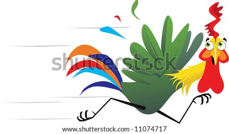 http://image.shutterstock.com/display_pic_with_logo/157696/157696,1207217332,1/stock-photo-illustration-of-colorful-cock-is-running-with-fear-11074717.jpg