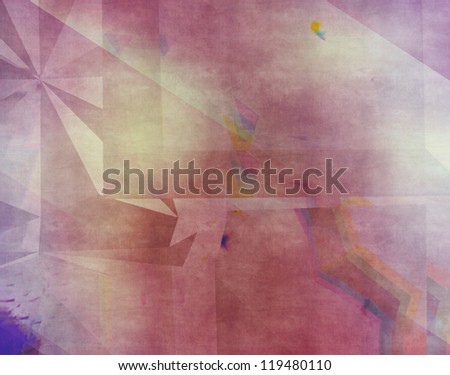 Illustration of colorful grunge geometric texture background.