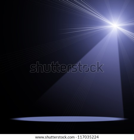 illustration of concert spot lighting over dark background