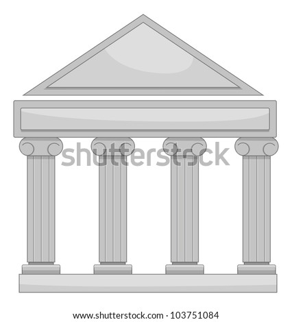 Illustration of court of law - EPS VECTOR format also available in my portfolio.