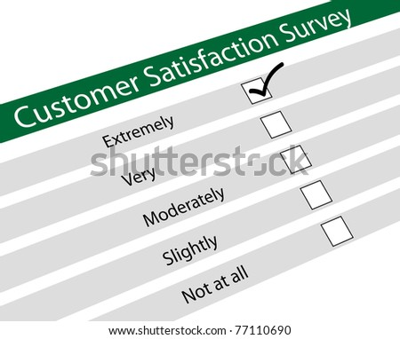 Illustration of customer satisfaction survey - stock photo