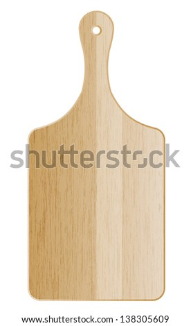 Illustration of cutting board