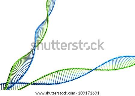 illustration of 3d image of DNA strand