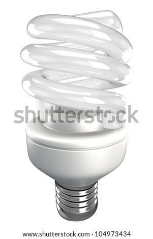 illustration of 3d image of energy saving fluorescent light bulb