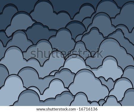 Illustration of dark heavy clouds