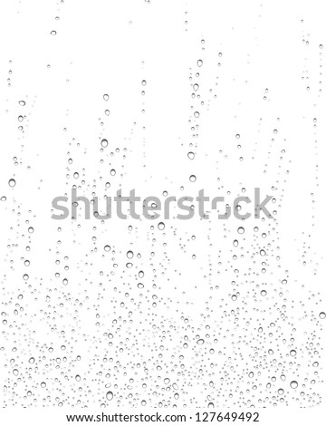 Illustration of drops of rain on windows