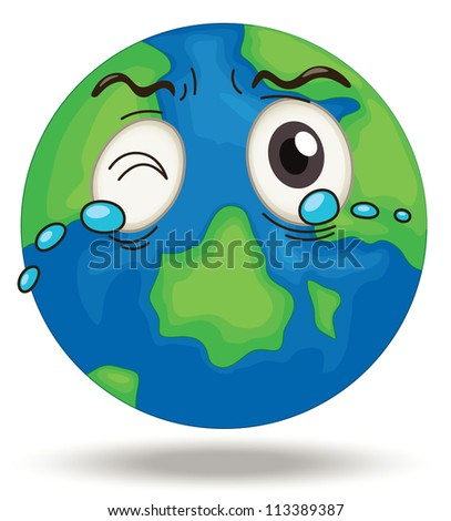 illustration of earth on a white background