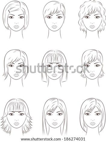 Royalty-free Whiteboard drawing - funny women faces #204365860 Stock ...