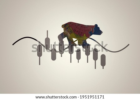 Illustration of forex graph image in bearish trend for global investment crisis concept. Photo stock ©