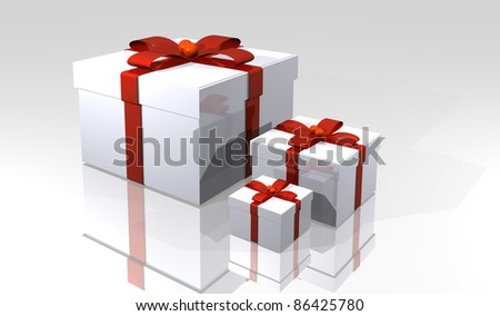 illustration of free boxes in white color