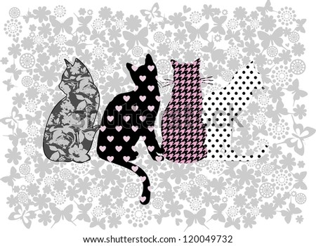 illustration of funny cats