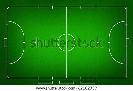 Illustration of Futsal ( Indoor football ) field.( grass court )