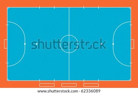 Illustration of Futsal ( Indoor soccer ) field.