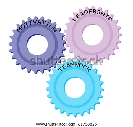 Illustration of gears with business success terms