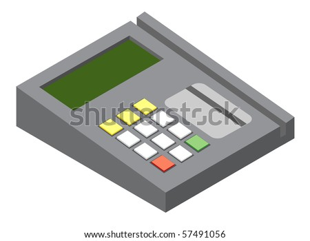 generic credit card icon. stock photo : Illustration of generic credit card reader device. Vector version is available.